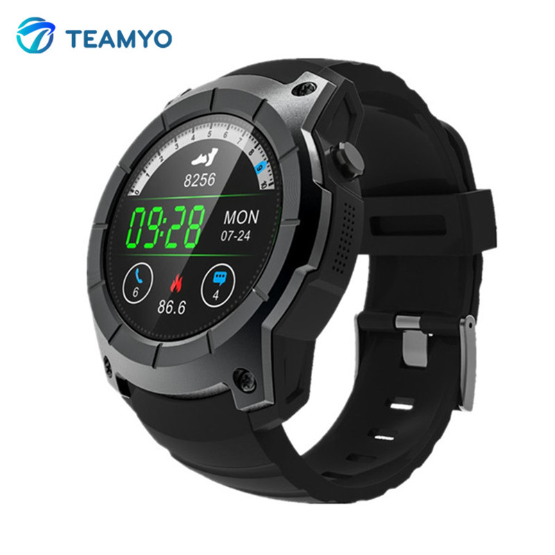 Teamyo Smart Band Heart Rate Monitor Dial Call GPS Tracker Smart Watch Support SIM TF Card smartwatch air pressure alarm clock 2017 new gps smart watch sport waterproof heart rate monitor dial call 2g sim card all compatible smartwatch for android ios