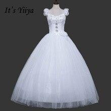 Free Shipping Flowers Shoulder Romantic Wedding Dresses Princess Red White Bridal Frocks Gown Custom Made Vestidos De Novia MH21