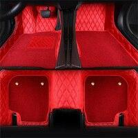 Левосторонний/правосторонний коврики для Volkswagen Beetle CC EOS Golf Jetta Tiguan TOUAREG, sharan 5D автостайлинг ковровое напольное покрытие