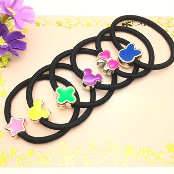 100PCS/lot Colored Clover Hair Accessories For Women Headband,Elastic Band For Hair For Girls,Hair Band Hair For Kids