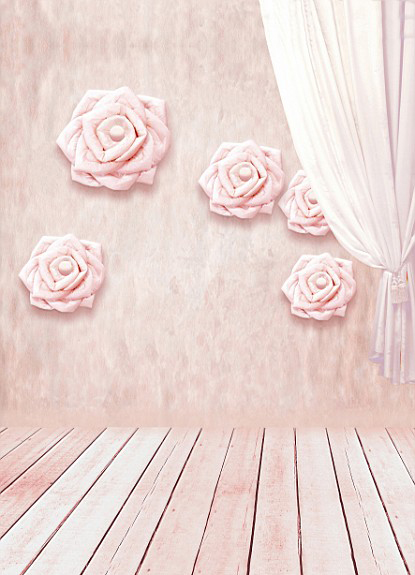 5Feet*6.5Feet Background Paper Roses Curtain Photography Backdropsthick Cloth Photography Backdrop 3159 Lk  Valentine'S Day 5feet 6 5feet background snow housing balloon photography backdropsvinyl photography backdrop 3447 lk