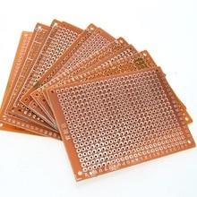 WAVGAT 10Pcs 5*7 PCB 5x7 PCB 5cm 7cm DIY Prototype Paper PCB Universal Board yellow