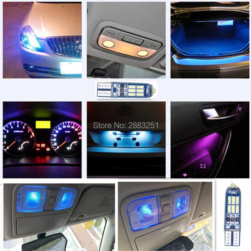 Pour MG bmw Honda dio moto rcycle voiture lumières T10 5W5 moto voiture plaque d'immatriculation LED lumières (super lumineux) lampe décorative (scintillement)