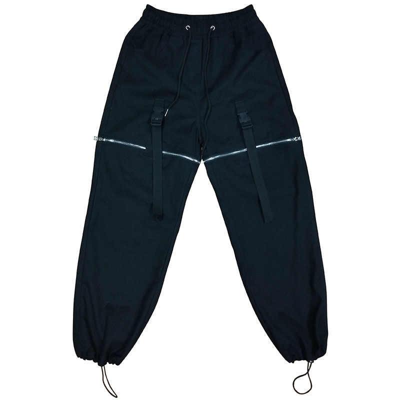 Мужские уличные брюки карго в стиле хип-хоп, Мужские Съемные повседневные штаны-шаровары, уличные брюки, спортивные штаны для бега
