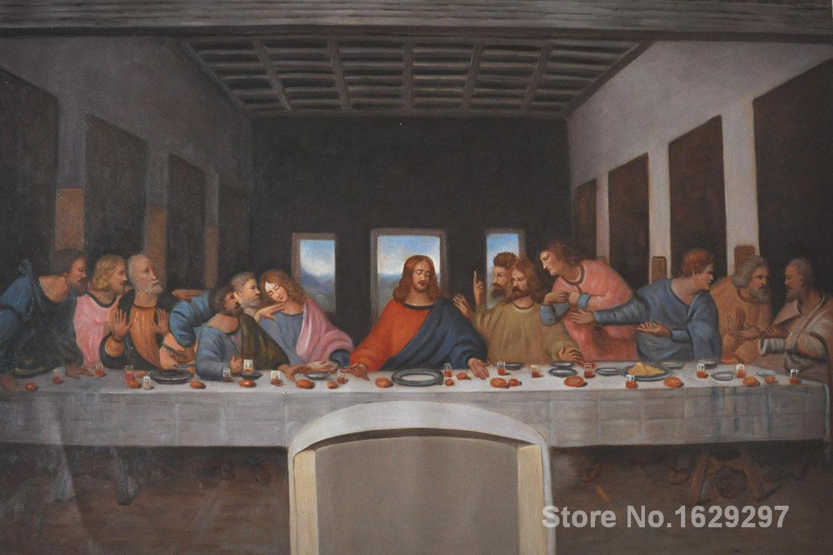 Portrait Woman painting Leonardo Da Vinci The Last Supper ... Da Vinci Last Supper High Resolution