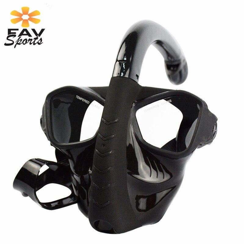 Mascara De Buceo Plein Visage Sous-Marine Plongée Snorkeling Ensemble Anti-brouillard Masque De Plongée Amovible De Natation Plongée pour Gopro Caméra - 4