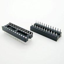 20PCS/lot 24 Pin DIP Square Hole IC Sockets Adapter Narrow 24Pin Pitch 2.54mm Connector