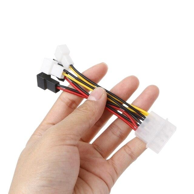 IDE Molex 4-контакт к 4X 3-контактный TX3 Дело Вентилятор охлаждения Мощность адаптер конвертер кабель
