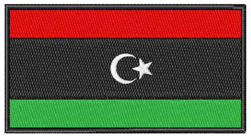 Libya embroidery flag patches logos 3 wide /football helmet/anarchy/ghostbusters