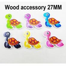 25 шт. черепаха кнопка с рисунком, деревянные кнопки рыбы детская одежда аксессуар ювелирные изделия подходят ремесла WCF-486