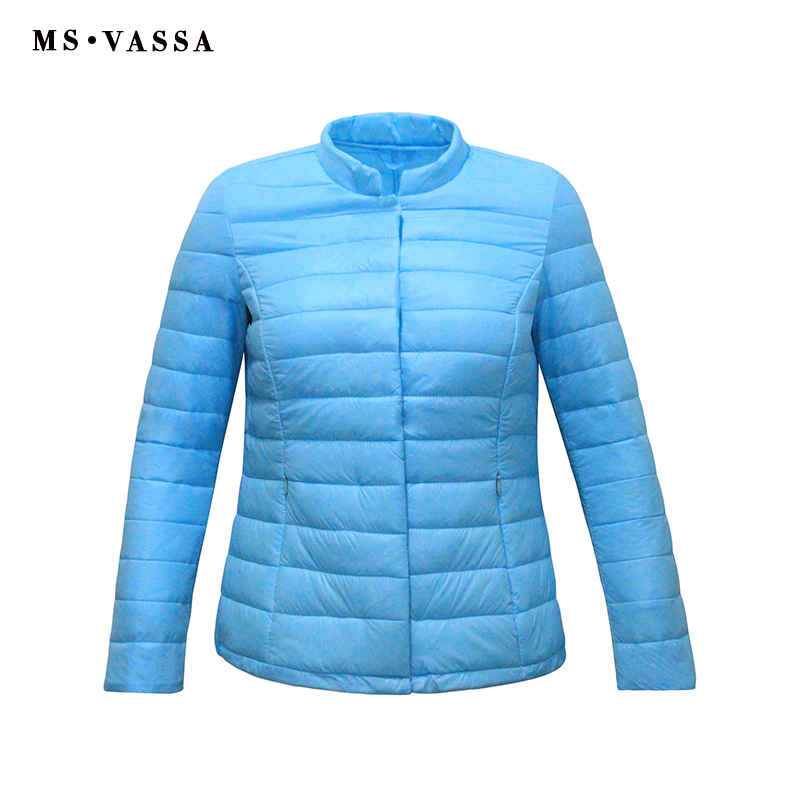 MS VASSA Women Light   Parkas   Autumn Padded Warm Coats Ladies Winter Inner Wear Jackets Slim Coat High Quality Outerwear
