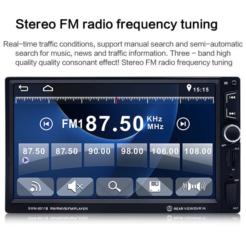 2018 Auto 7 Inch Car MP5 Bluetooth Hands-free Car Audio Car Radio High Definition and Video Player MP4 Player Card Radio Player plastic mp4 player shell mold makers