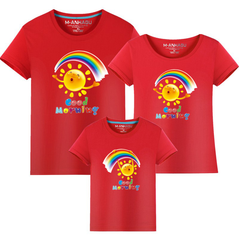 Summer Family Matching Outfits T shirt Mom Dad Son Daughter Rainbow T Shirts Family Mother Father Kids Matching outfits Tees (10)