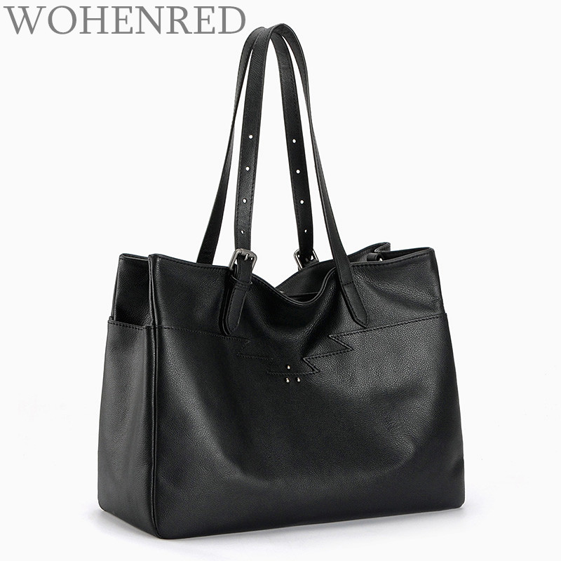 Luxury Handbags Women Bags Designer Genuine Leather Large Capacity Casual Tote Famous Brand Shoulder Bags Ladies Top-handle bags famous designer brand bags handbags women bags leather genuine large capacity sheepskin rivet hand bag shoulder tote female 2017