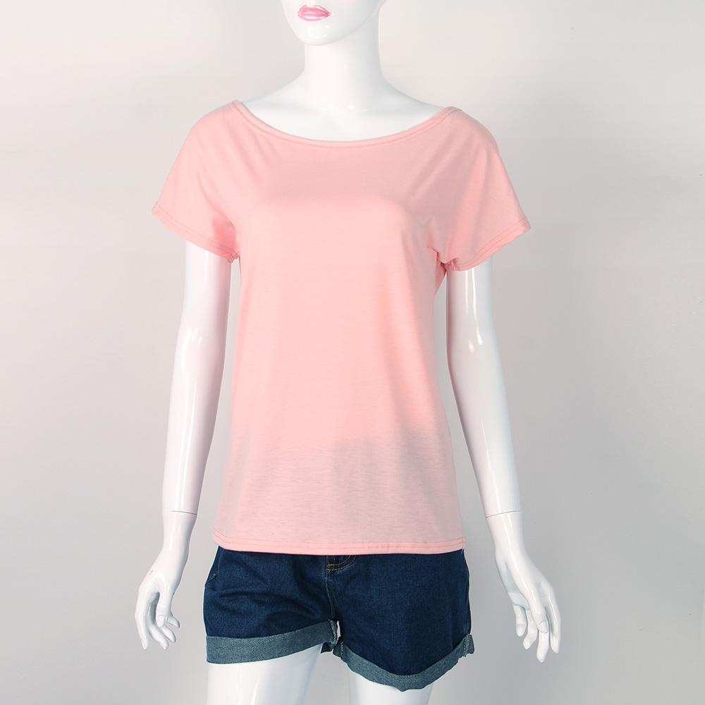 Women's Sexy Backless Hollow Bandage Punk Tee Shirt, Woman's Short Sleeve Summer T-Shirt 2