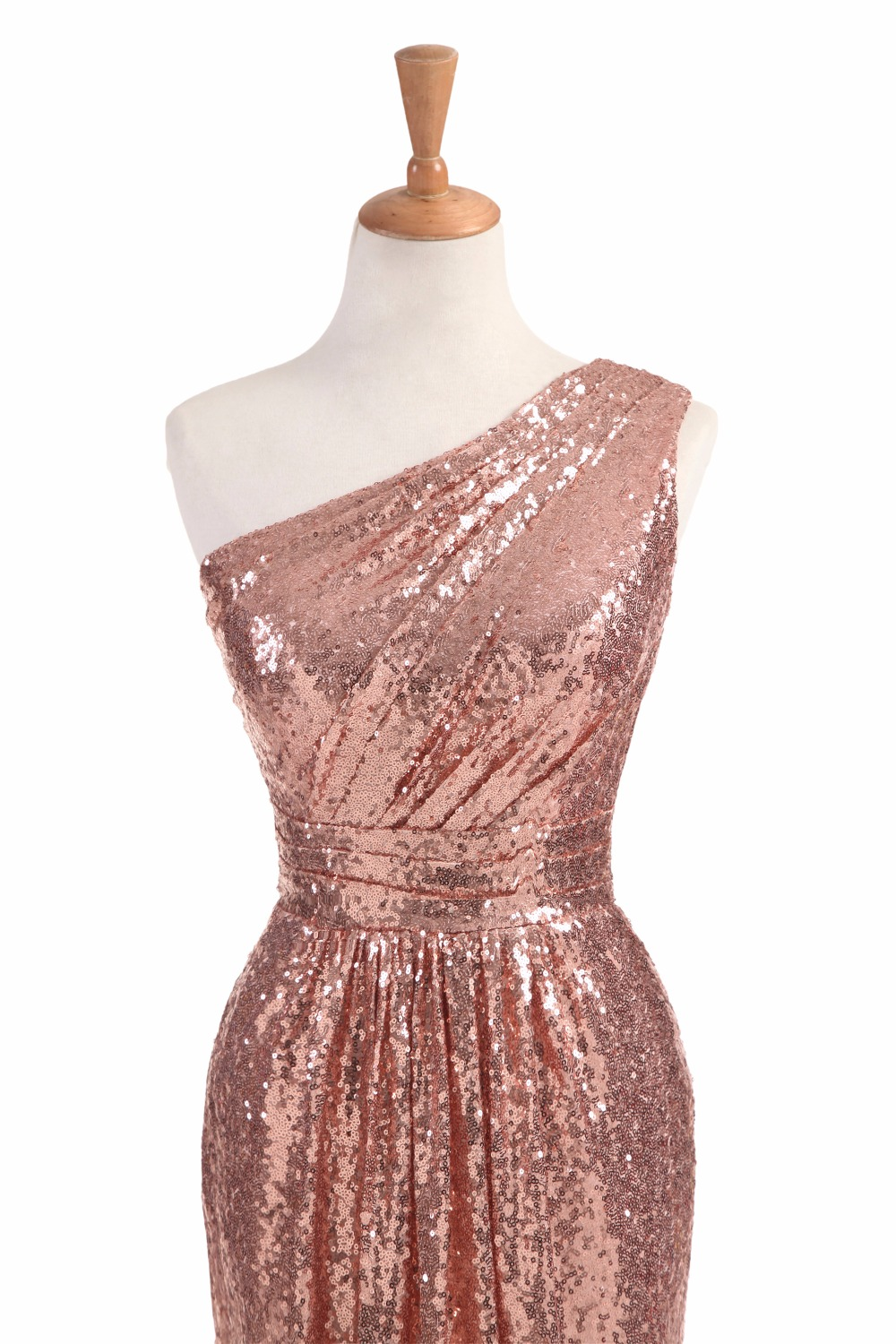 Sale – Rose Gold Wine Red Blue One-shoulder Colorful Sparkly Long Sequins Bridesmaid Dress