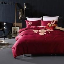 Avengers Super heroes 100% cotton bedding set night-luminous duvet cover queen size bed sheet for boys/adult linen bedspread