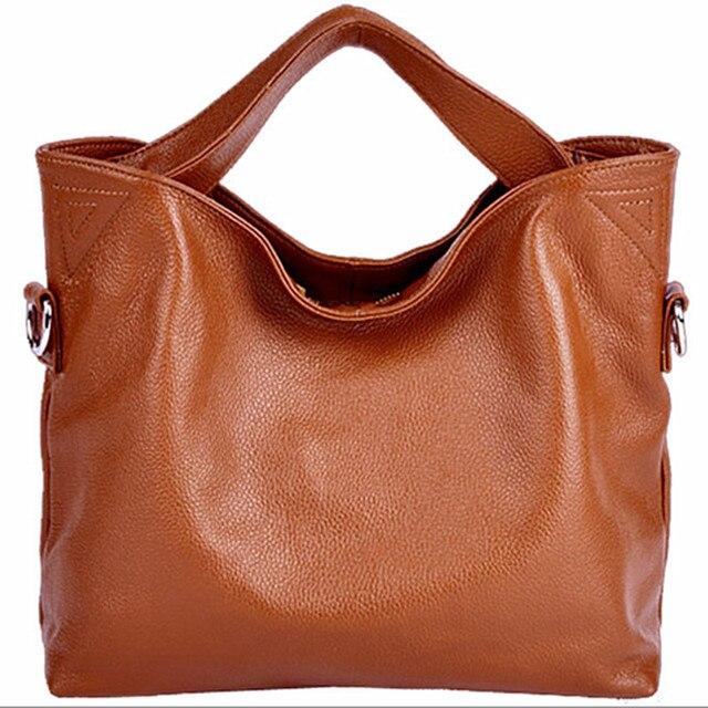 6a2336aeb70a 100% натуральная кожа сумки женщина мешок коричневый наплечная сумка  большой тоут 7 цветов bolsas femininas couro genuino воздуха a основной сум