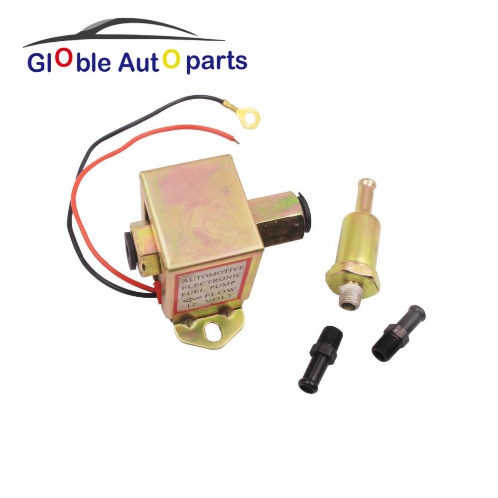 12V Fuel Pump For Mocycle Ford Carburetor New Diesel Petrol Facet Red Top Square 40104 40106 40107 P502 Low Pressure External