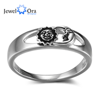 Sun And Moon Fashion Solid 925 Sterling Silver Jewelry Women Rings For Party JewelOra RI102352