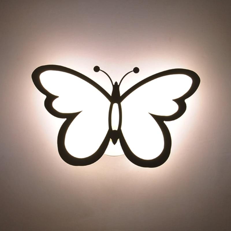 GZMJ Modern Butterfly Designer Wall Lamp Lampras Home Lighting Fixture Decoration Lights Wall Acrylic Wall Light Led Wall Sconce