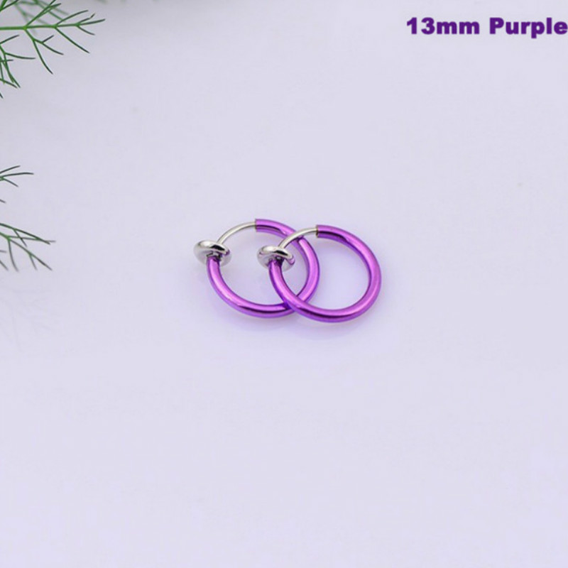 Lip Hoop Earrings Piercing Fake Nose Goth Nose-Clip Punk on Sell 1pcs New-Fashion