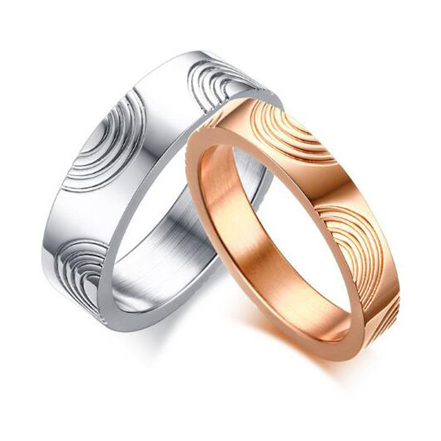2017 New Simple Design Wedding Ring Silver Rose Gold Couple Ring For