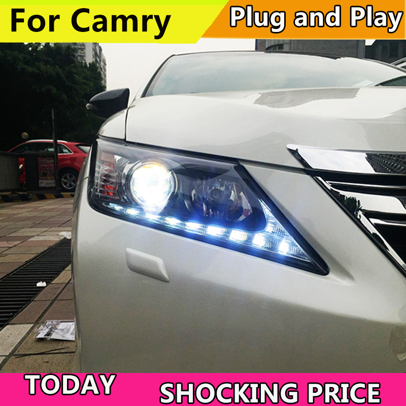 Car Styling for Toyota Camry headlight 2012 2014 Camry LED Headlight DRL Bi Xenon Lens High