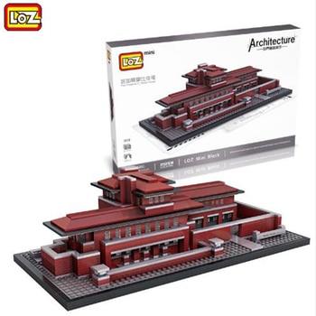 LOZ Mini Architecture Building Blocks Robie HousePlastic Assembly Model DIY Building Blocks Robie House House 1018 21035 lego