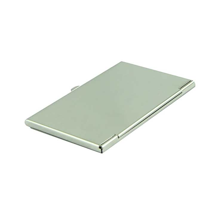 Card Holder Voberry Silver Business Card Holder Flip Style Metal ...