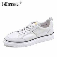 Cowhide mens board white shoes Genuine Leather breathable sneaker fashion men casual shoes Leisure shoes male spring autumn недорго, оригинальная цена