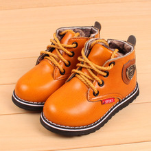 Sinered 2016 hot sale Korean children fashion keep cotton boots baby boys girls velet keep warm shoes kids casual boots