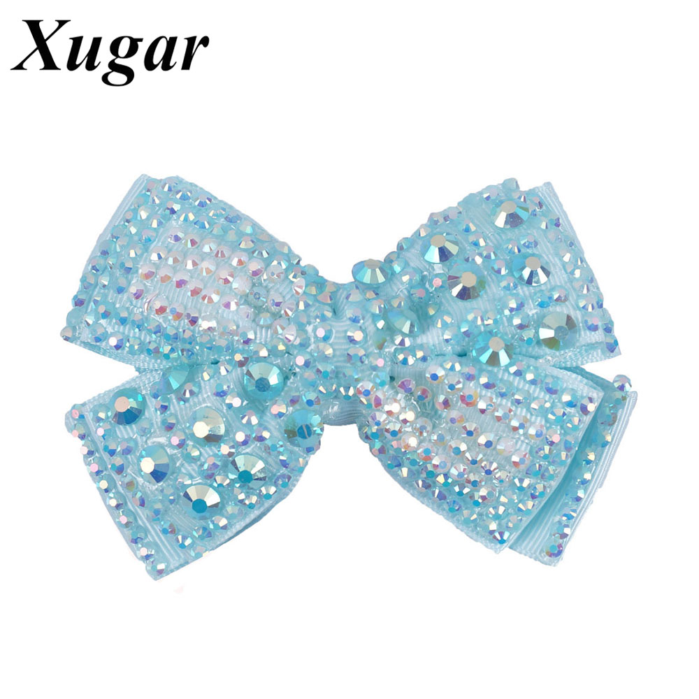 2 Pcs/Lot 4'' High Quality Pearl Hair Bow For Girls Sweet Cute Hair Clips Rhinestone Ribbon DIY Fashion Headwear 4 high quality fashion ribbon hair bow for baby girls sweet boutique rhinestone alligator chips pearl diy hair accessories