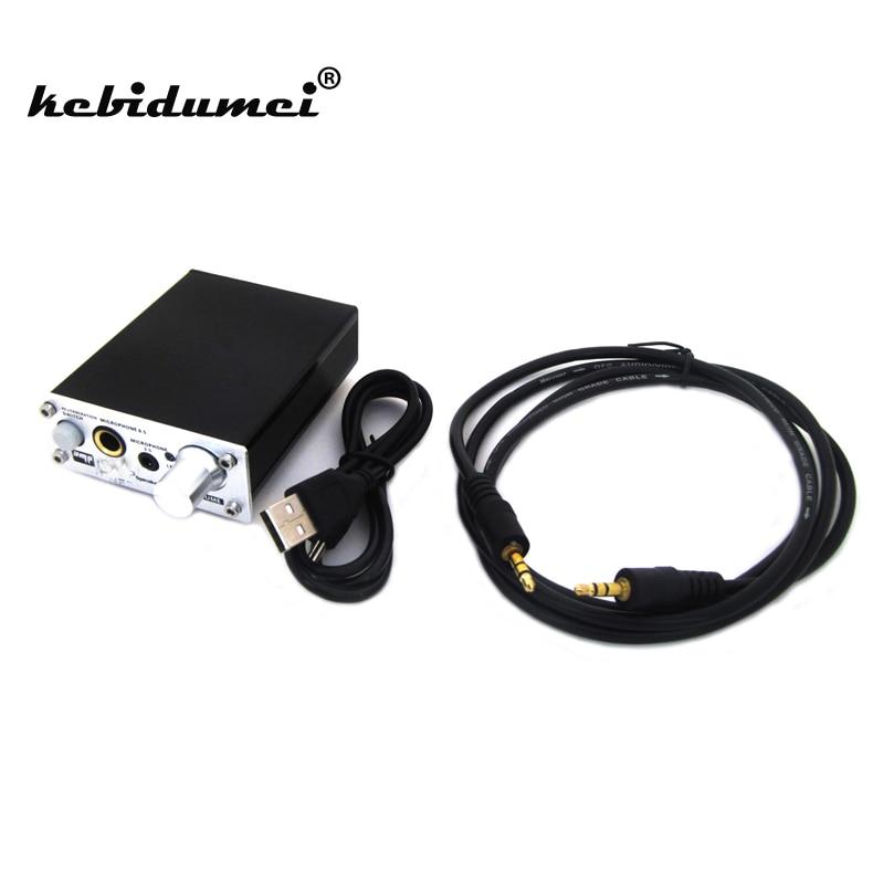 Kebidumei Новый Микрофон Звук Усилители домашние ультра компактный 2 канала ПК микрофон Проводной Звук Усилители домашние аудио слот для караоке