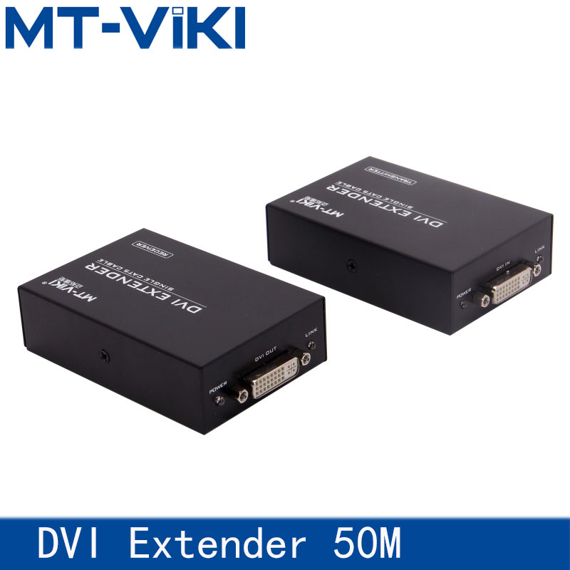 MT-VIKI DVI UTP Extender 1080pDVI Extender HD cable extension amplifier Single cable Cat5e/6 cable extension 50 meters 1080P link mi lm ex11 1080p 50m single cat5e 6 hdmi extender utp cable high definition signal extension transmitter