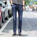 Men leisure jeans cowboy youth denim pants stretch slim fit jeans pant male straight denim trousers blue size 28-38
