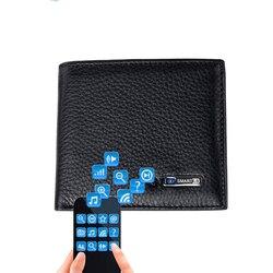 Smart wallet men couro genuíno de alta qualidade anti perdido inteligente bluetooth bolsa masculino cartão suportes terno para ios, android