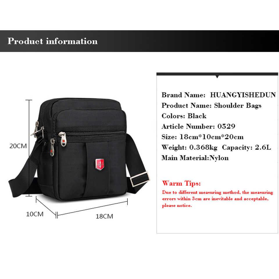 ad22bb56071a New Swiss Brand Men's Handbags Messenger Shoulder Bag crossbody Waterproof  bag Oxford Black Bags Unisex Vintage Crossbody Bag