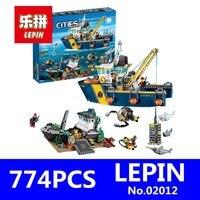 City Series LEPIN 02012 Deepwater Exploration Vessel Children Educational Building Blocks Bricks Toys Model Funny Boy
