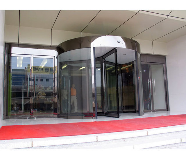 Automatic Door Sensors The Revolving Door Frameless Doors Office