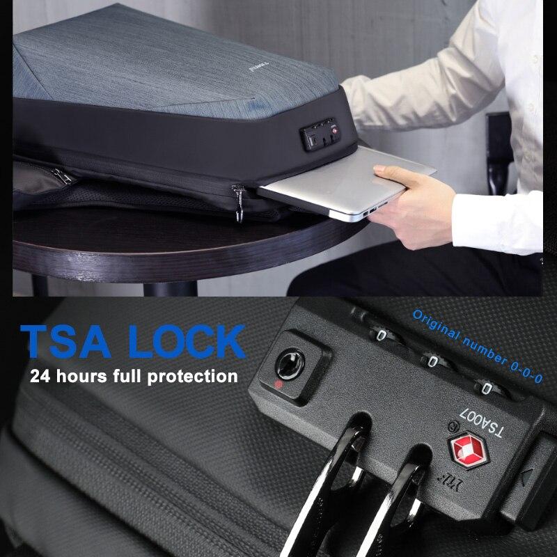Image 3 - Tigernu rfid negócios mochila com bloqueio de viagem tsa para  bagagem proteção do cartão anti roubo mochilas homem à prova dwaterproof  água 15.6 portátilMochilas