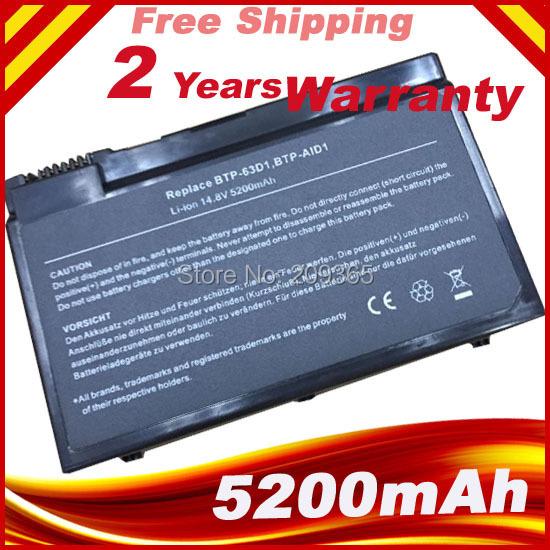 5200 mah 8 células New bateria do portátil para Acer Aspire 3022 WLMI 3023LMi 3610 BTP-63D1 BTP-AGD1 BTP-AFD1 BTP-98H1 91.49Y28.001