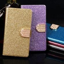 Flip phone case For BQ Aquaris M 4.5 5 5.5 leather wallet style Shining protective kickstand Luxury capa card cover M4.5 M5 M5.5 стоимость