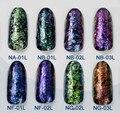 24 ESTILOS Camaleón Copos Copos de Efecto Mágico Multi Chrome Polvo de Uñas Glitter Lentejuelas Nail Art Gel Esmalte de Uñas de Manicura 1g