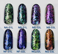24 STYLES Chameleon Flakes Magic Effect Flakes Multi Chrome Nail Powder Glitter Sequins Nail Art Gel Nail Polish Manicure 1g