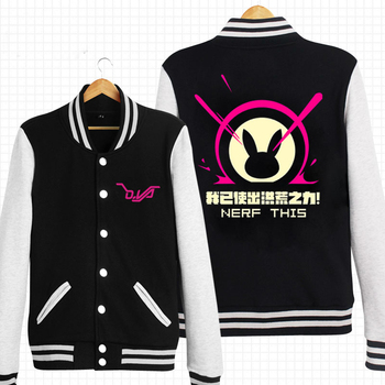 D.VA OW Bunny Unisex Cosplay Baseball Jacket Free Shipping XXXL
