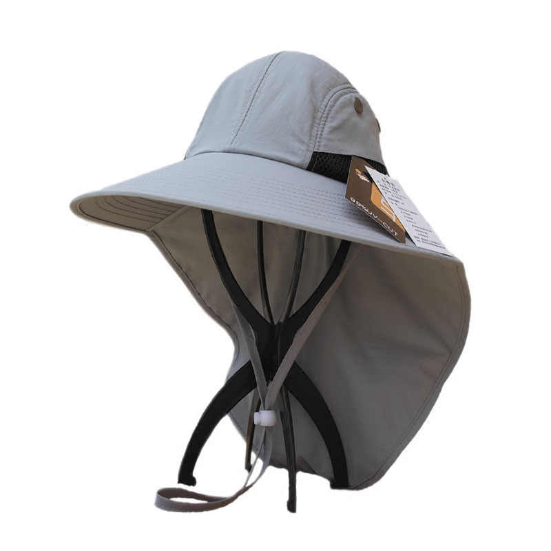 a14d9df69760ec Outdoor Fishing Hats for Men Women with Extra Large Shade UV Blocking Heat  Insulation Waterproof with