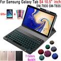 Чехол для samsung Galaxy Tab S4 10 5 чехол для клавиатуры T830 T835 SM-T830 SM-T835 Чехол 7 цветов с Подсветкой Bluetooth