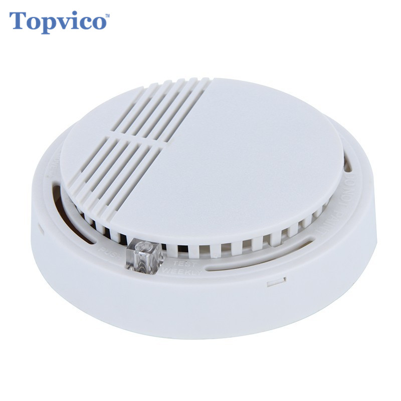 Topvico Smoke Sensor Detector Alarm Wireless Fire Alarm 85dB Work Alone House Safety Smart Home Security Alarm Systems wireless zigbee smart anti fire alarm smoke sensor smart home sensors