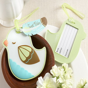 (100pcs/Lot)FREE SHIPPING+Tweet Baby Baby Bird Luggage Tag Baby Party Giveaway Gift Wedding&Bridal Shower Favor